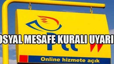 Photo of PTT'den Sosyal Mesafe Uyarısı